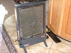 pic of heater in use