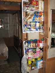 pic of open pantry shelves : rv kitchen storage ideas  - Aquiesqueretaro.Com